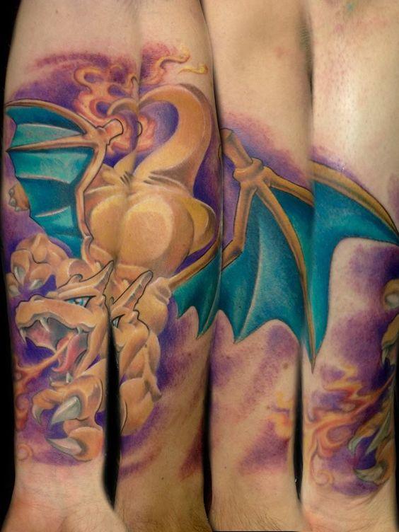 Charizard tattoos11