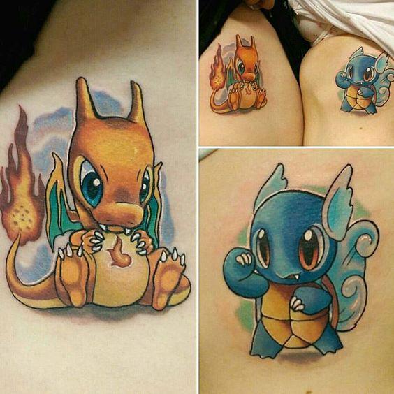 Charizard tattoos13
