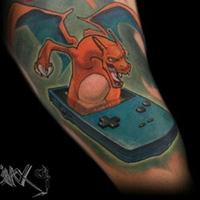 Charizard tattoos14