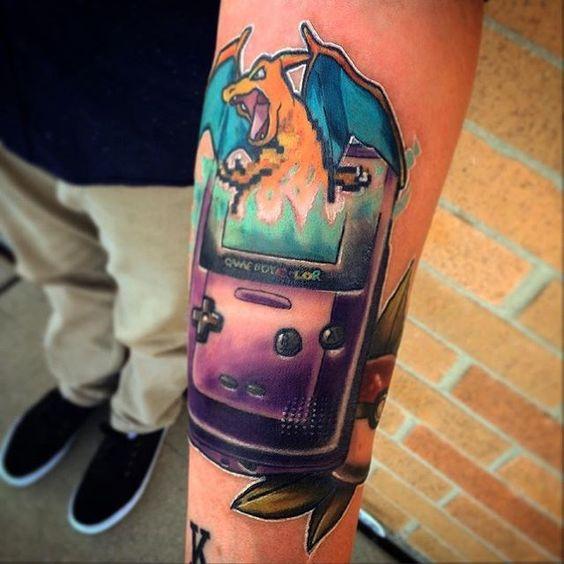 Charizard tattoos5