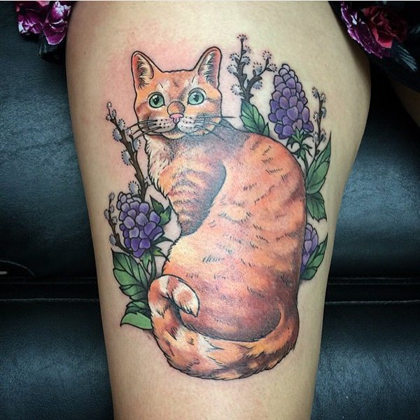 Cat tattoo for Fat cats tattoos