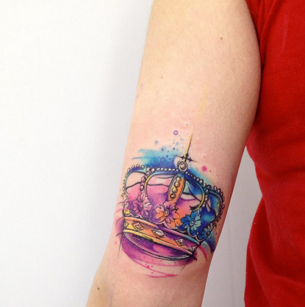 watercolor-crown-tattoo-3423