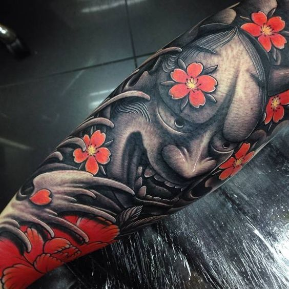 Black Japanese devil design