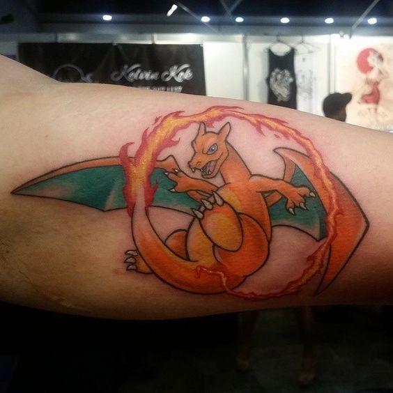 Charizard tattoos1