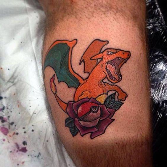 Charizard tattoos10
