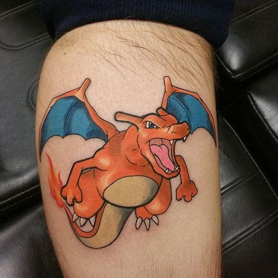 Charizard tattoos12