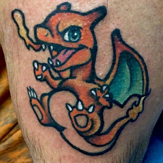 Charizard tattoos6