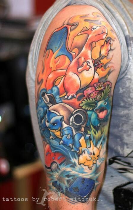 Charizard tattoos7