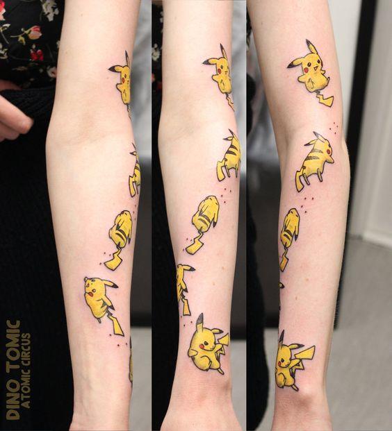 pikachu tattoos5