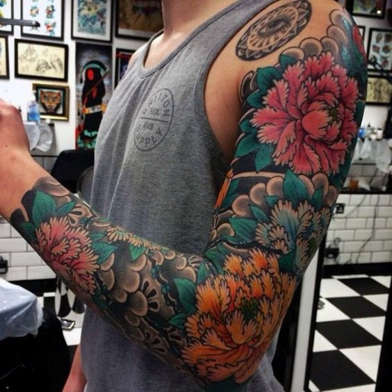 Japanese  Sleeve point Tattoo ideas