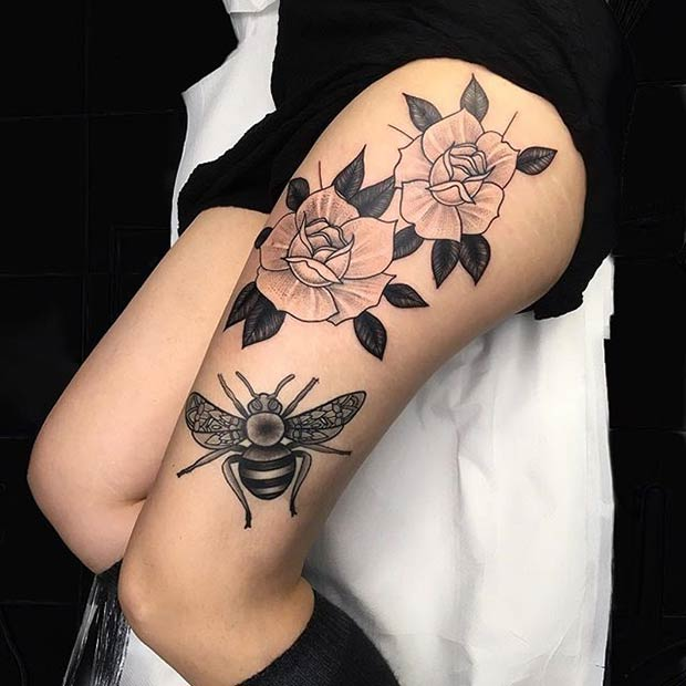 101 thigh tattoo ideas and designs for women zariascom - 620×620
