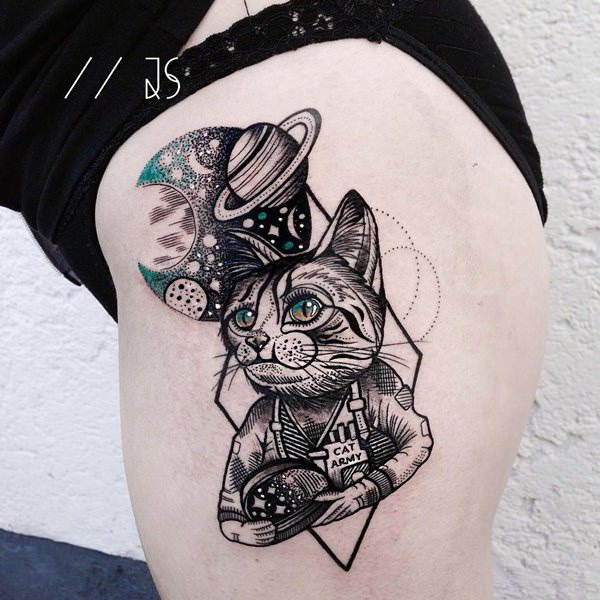 cat tattoo. Black Bedroom Furniture Sets. Home Design Ideas