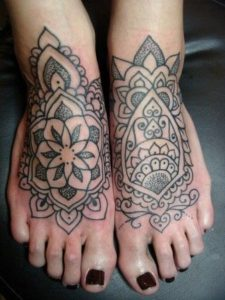 Women foot tattoos