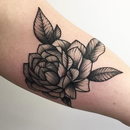 Forearm tattoos for girls onpoint tattoos for Single flower tattoo