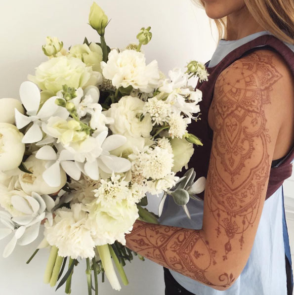 full arm henna tattoo