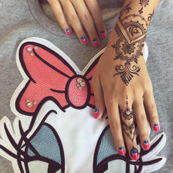 temporary tattoo on hand