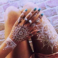 white henna tattoo design