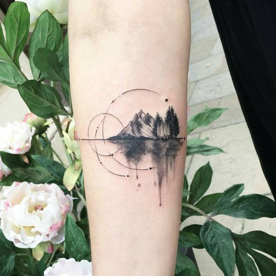 landscape tattoo