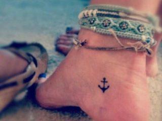 anchor tiny tattoo