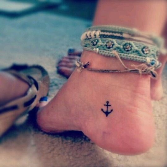 anchor tiny tattoo