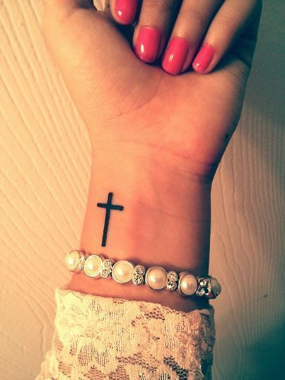 tiny tattoos cross
