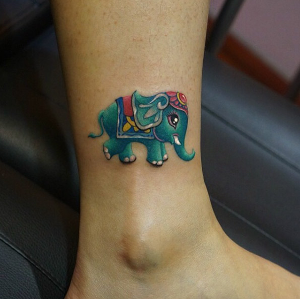 cute elephant tattoos