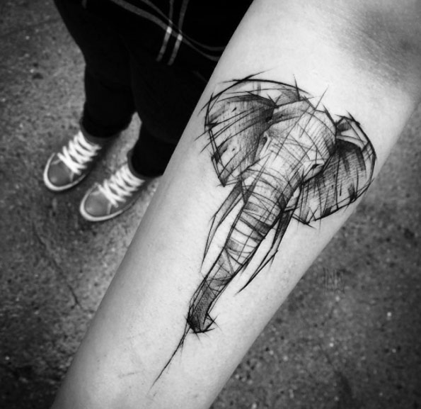 cute elephant tattoos