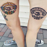 Sisterly love tattoos