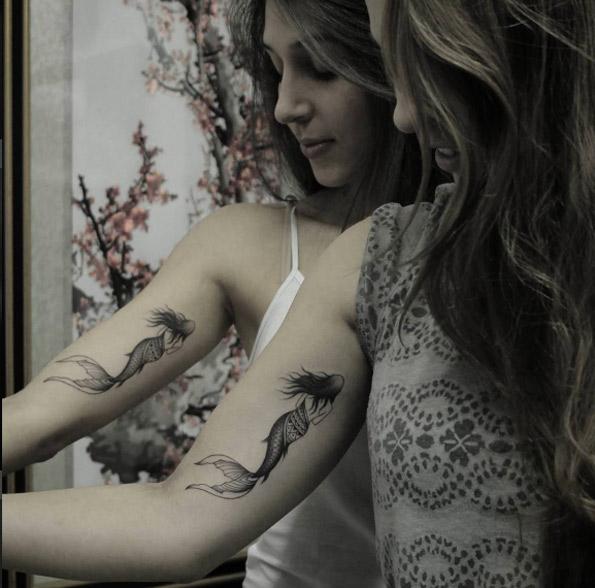 The mermaids inner sleeve sisters tattoo