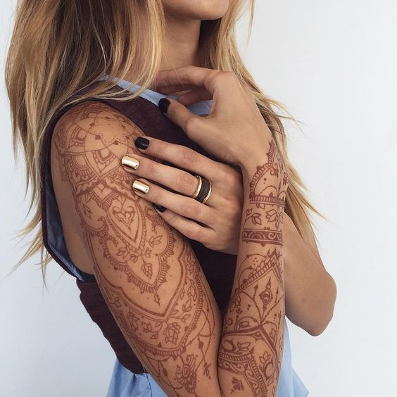 full arm temporary tattoo