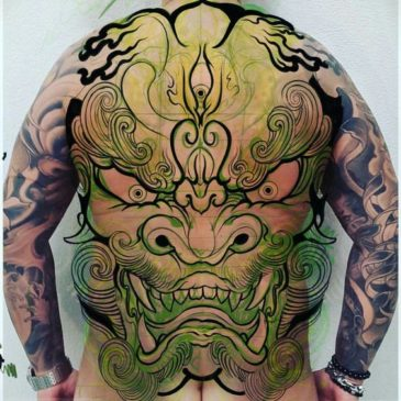 Traditional Japanese Tattoo Meanings - Karashishi
