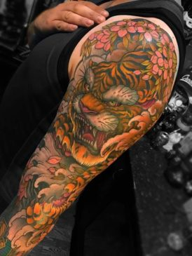 Traditional Japanese Tattoo Meanings - tora
