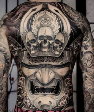 Traditional Japanese Tattoo Meanings - Skull