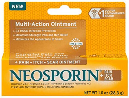 Neosporin on tattoo + Pain Relief Dual Action
