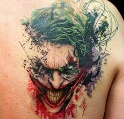 The Joker - Cartoon Tattoo Design