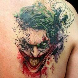 The Joker - Cartoon Tattoo Design