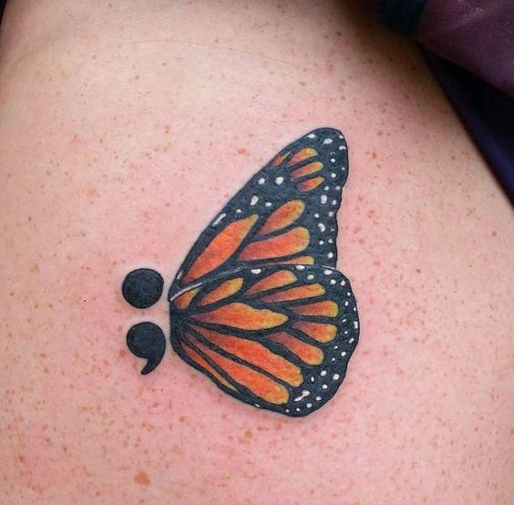 Butterfly semicolon