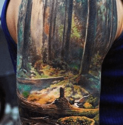 Landscape Sleeve tattoo