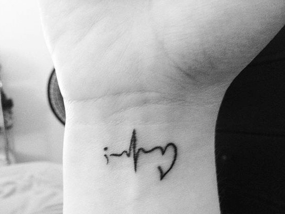 Wrist semicolon tattoo Keeping the heart beating